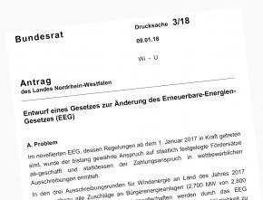 Windbranche begrüßt Bundesratsinitiative der  NRW-Landesregierung