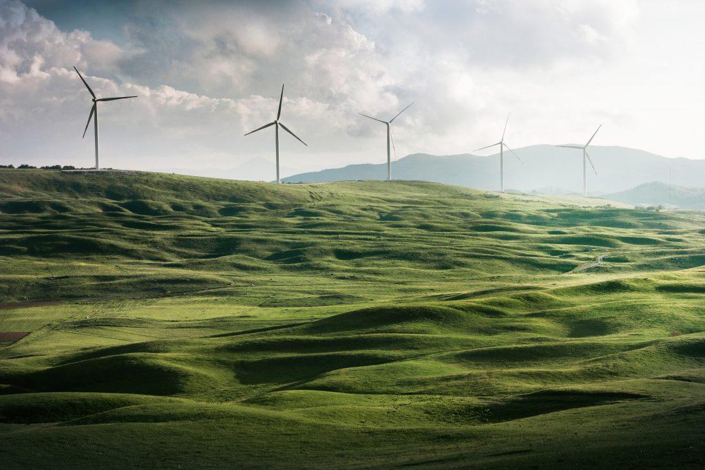 Windräder und Grünstromnetze